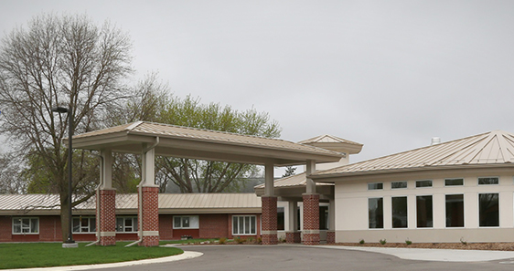 Main Entrance of Pine Haven Care Center